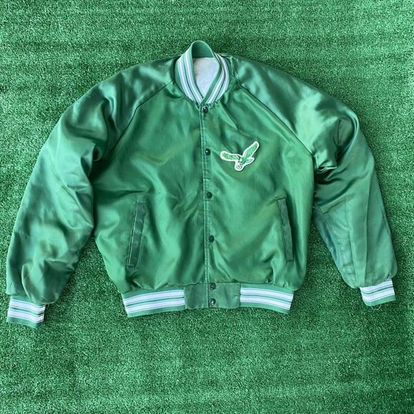 ❌SOLD❌Vintage Eagles Satin Bomber Jacket